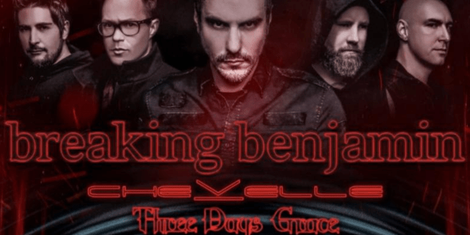 Breaking Benjamin, Chevelle & Three Days Grace at Sunlight Supply Amphitheater