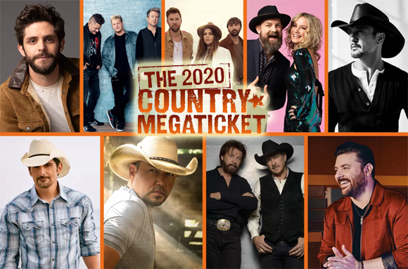 Country Megaticket (Includes Tickets To All Performances) at Sunlight Supply Amphitheater