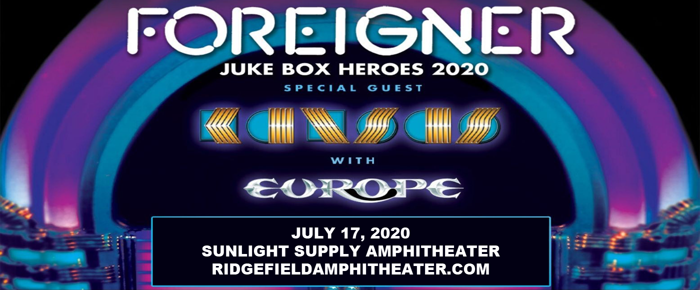 Foreigner, Kansas & Europe [CANCELLED] at Sunlight Supply Amphitheater
